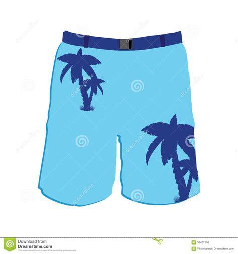 Man Shorts Stock Vector Illustration Of Cotton Denim 58467966 Board Shorts Template