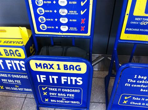 ryanair cabin baggage size ryanair gets customer friendly one bag one world