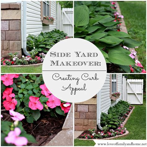 create curb appeal side yard makeover creating curb appeal of family