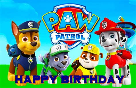 Free Paw Patrol Happy Birthday Card free paw patrol birthday ecards