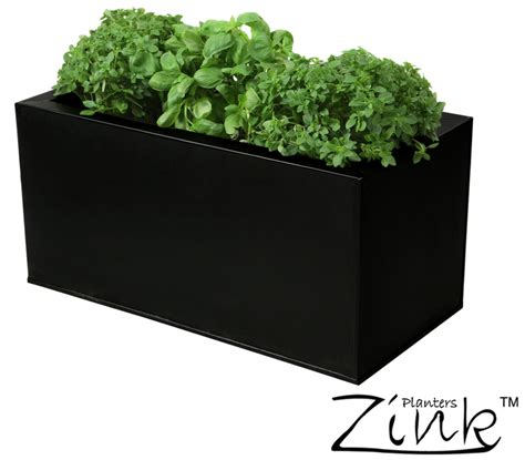 kitchen herb planter zinc kitchen herb planter black l50cm x h25cm 163 22 99