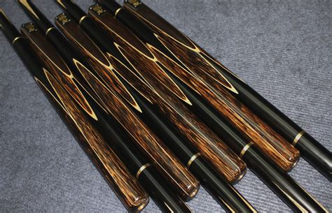 Handmade Cues - 57 quot handmade handspliced 4 snooker cue set featuring