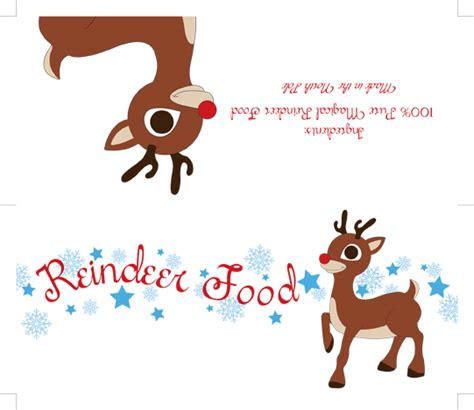 printable reindeer chow gift tag free reindeer food poem printable search results