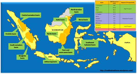 Minyak Indonesia potensi coalbed methane