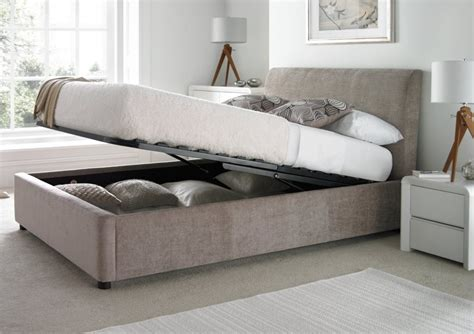 ottoman bed with storage serenity upholstered ottoman storage bed mink storage