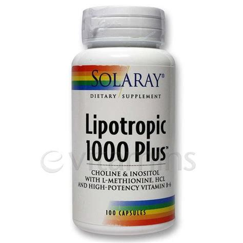 Lipotropic Detox Reviews by Solaray Lipotropic 1000 Plus 100 Caps Evitamins Ireland