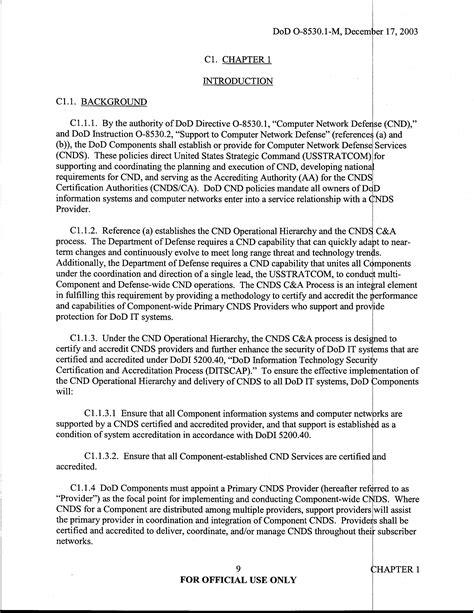 U Fouo Dod Manual Computer Network Defense Cnd