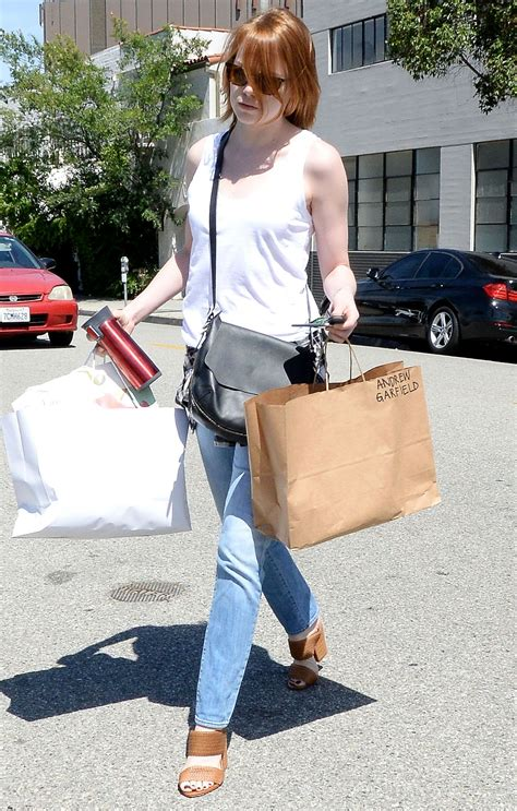 emma stone casual style emma stone casual style shopping in los angeles april 2015