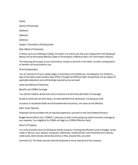 Employment Benefit Letter 35 Termination Letter Sles Lease Employee Contract