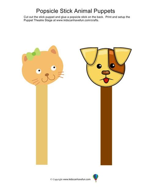 printable animal stick puppets make animal popsicle stick puppets diy paper crafts for