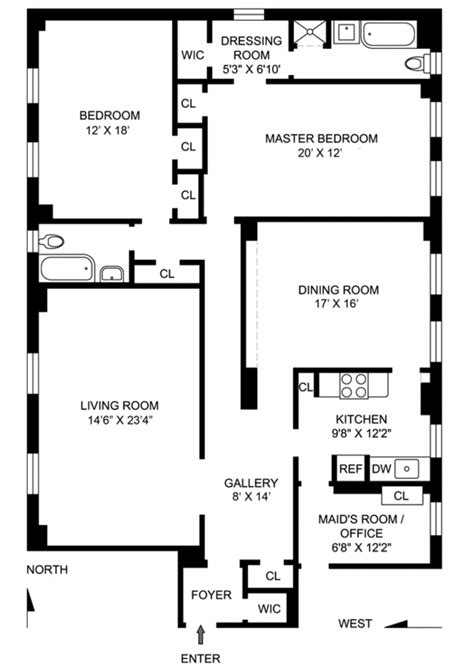 classic 6 floor plan the classic 6 apartment realdirect