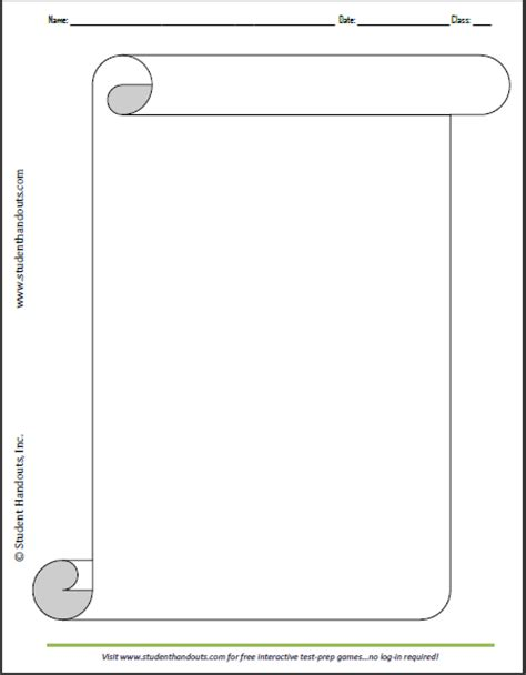 blank scroll template new calendar template site
