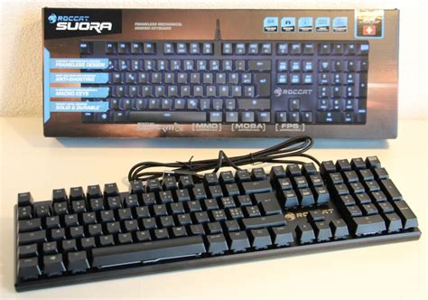 Roccat Suora Mechanical Gaming Keyboard Frameless roccat suora frameless mechanical gaming keyboard