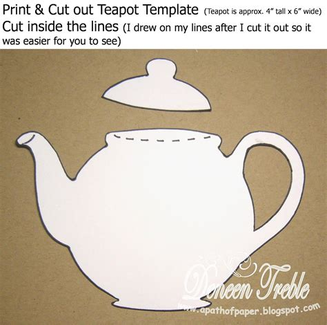 teapot card template a path of paper top tip tuesday teapot card tutorial