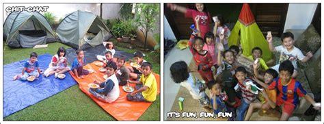 Tenda Acara Anak berkemah seru bersama tetangga mommies daily