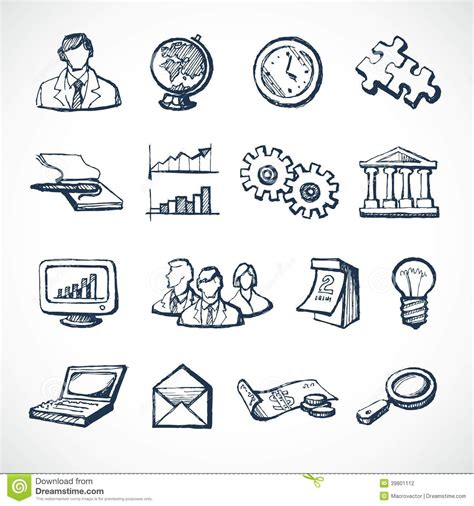 design icon in sketch infographic sketch icons stock vector illustration of