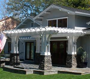 Craftsman Style Pergola by Arbor Entrance Ideas Build By Own