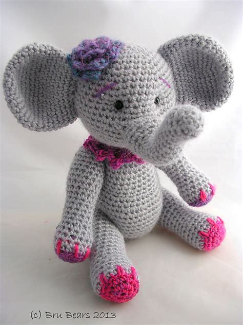 pattern crochet elephant ellie the elephant pattern by br 250 bears elephant pattern