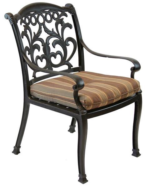 Flamingo Cast Aluminum Outdoor Patio Furniture Dining Cast Aluminum Patio Chairs