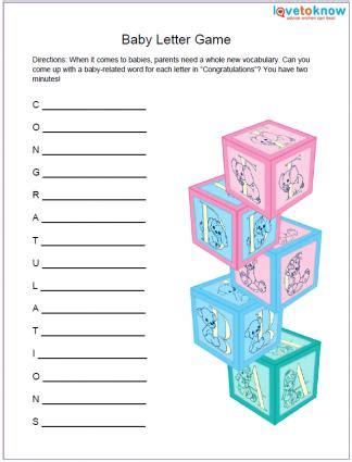 free printable baby shower games lovetoknow