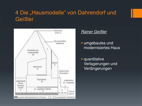 dahrendorf haus ppt modelle der sozialstruktur in deutschland powerpoint