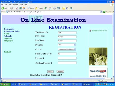 design online exam website next chapter 21 user interface design online examination