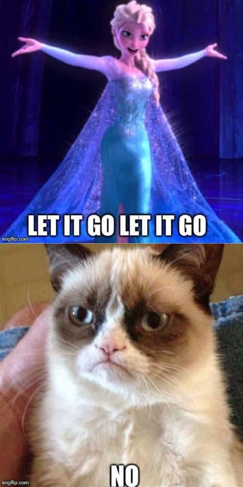 Catok And Go let it go grumpy cat hahaha let it go