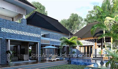 desain gapura bali desain rumah gaya villa bali bp gufron di jakarta model