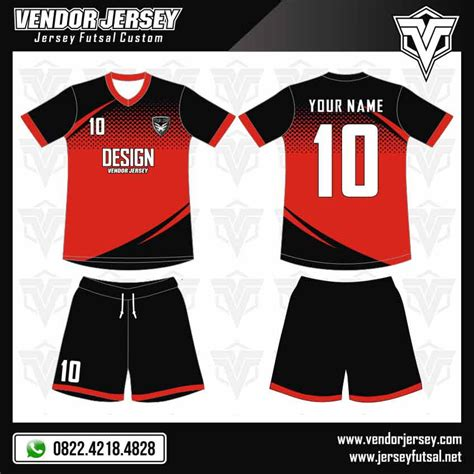 desain baju bola vektor desain kostum futsal fantastic 4 vendor jersey