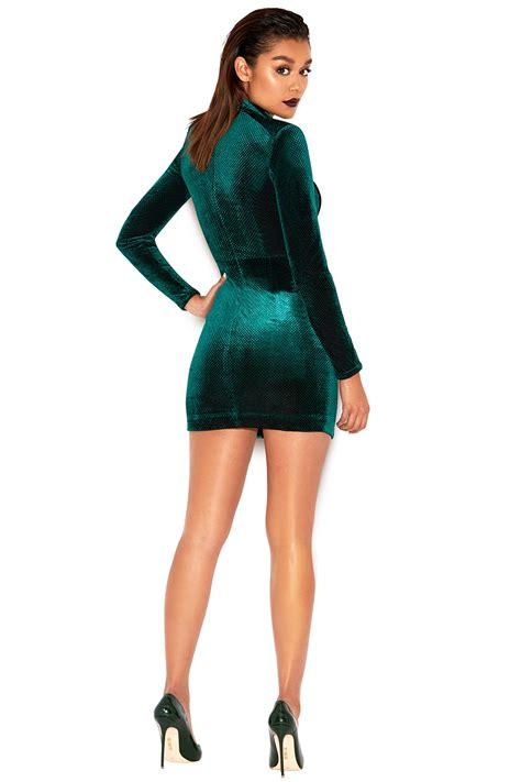 Izaura Dress clothing bodycon dresses isaura emerald velvet