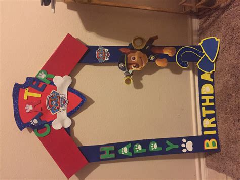 Starting A Home Decor Business by Diy Party Frame Paw Patrol Youtube
