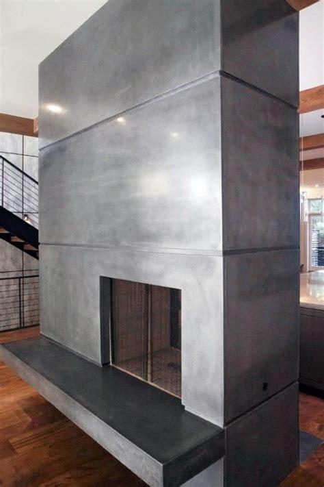 top   concrete fireplace designs minimalistic