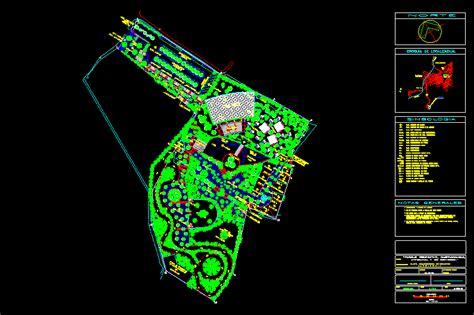 ecotouristic park dwg block  autocad designs cad