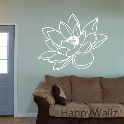 Tokomonster Lotus Flower 6 Wall Decal Sticker Size 23 lotus flower wall sticker flower lotus wall decal diy