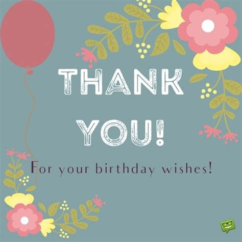 Thank You For The Birthday Wishes Quotes Birthday Thank You Sayings And Messages Addmyfoto Com