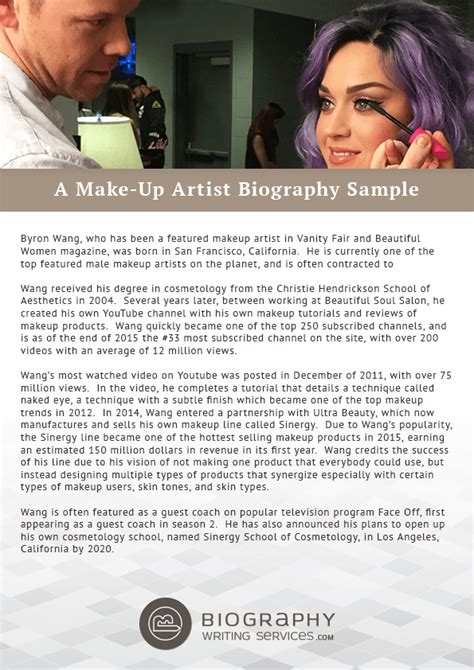 biography for artist exles makeup artist bio exle saubhaya makeup