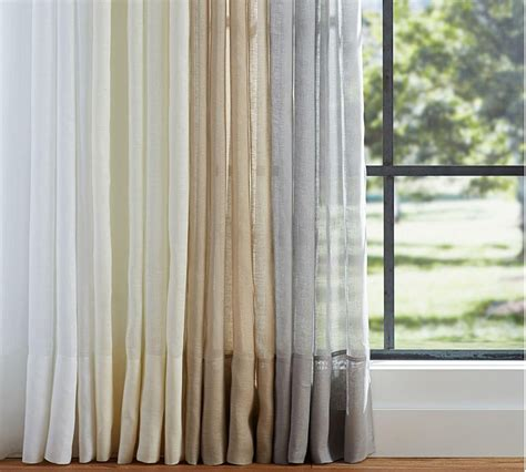 Belgian Linen Curtains Belgian Linen Flax Sheer Curtain Pottery Barn Au