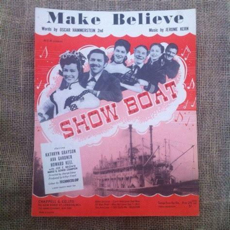 show boat make believe vintage sheet music 1927 make believe from show boat