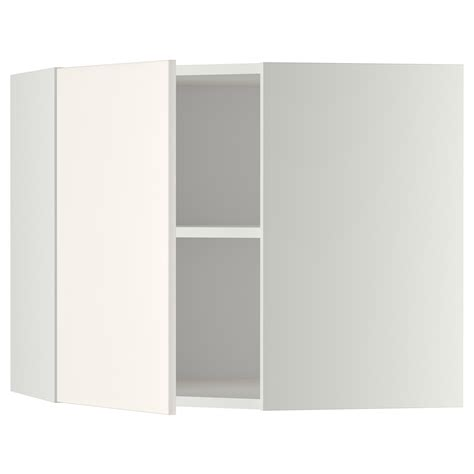 metod corner wall cabinet with shelves white veddinge
