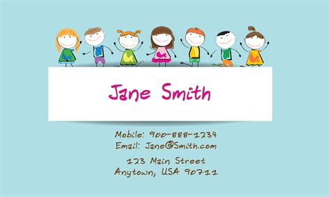 babysitting business cards templates free printable babysitting and day care business cards babyshower designs
