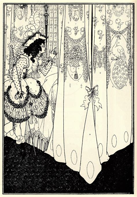 split complementary illustration unit aubrey beardsley