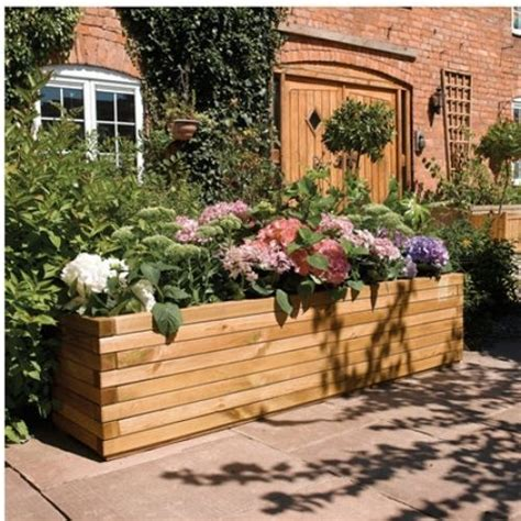 25 best ideas about large wooden planters on