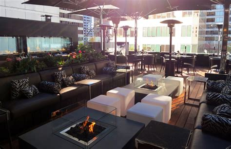 Black And Blue Patio by Pci Black Blue Rooftop Patio Opens