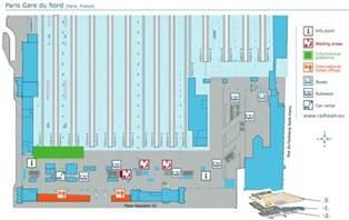 Simple Floor Plan gare du nord train station paris by train