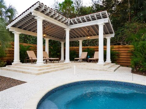 cozy pool house with pergola pools for home comfortable and cozy pool pergola with decent furniture