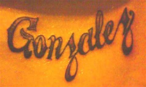 gonzalez tattoo gonzalez