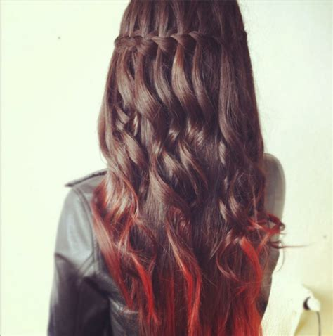 dip dyed hair on Tumblr Red To Blonde Ombre Hair Tumblr