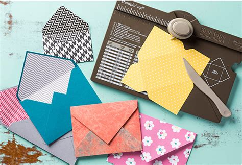 Make Your Own Paper Punch - stin up envelope punch board create your own envelopes