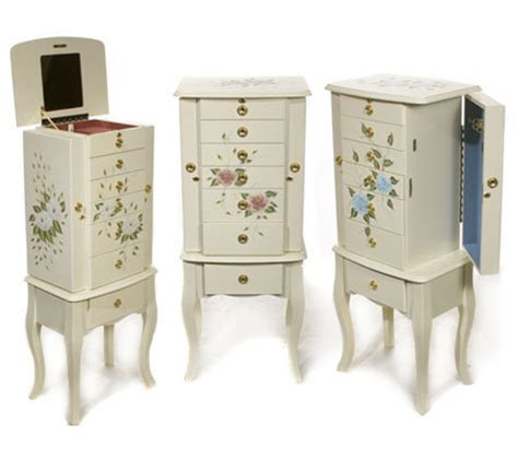 Pacconi Jewelry Armoire by Quot As Is Quot Pacconi Handpainted Jewelry Armoire Qvc