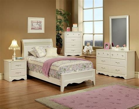 crystal bedroom furniture 6 piece twin bedroom set sleigh pearl white with crystal